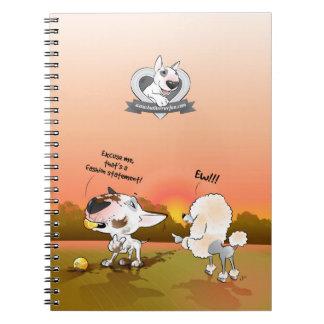 "Bull Terrier Cartoon Notebook ""Fashion Statement"""