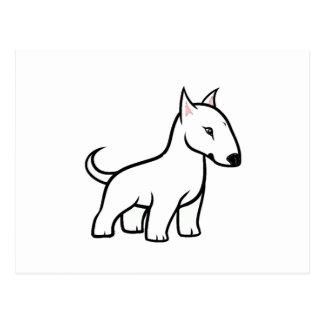bull terrier cartoon postcard