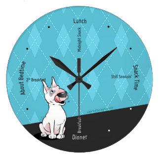 Bull Terrier Cartoon Wall Clock