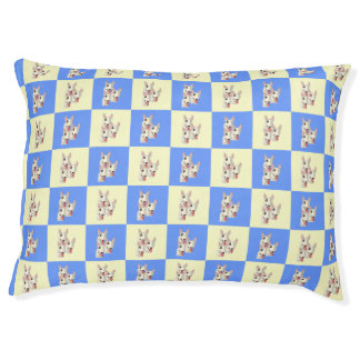 Bull Terrier Checkered Dog Bed