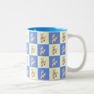 Bull Terrier Checkered Mug