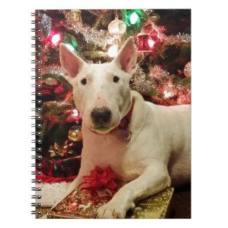 bull terrier christmas notebooks