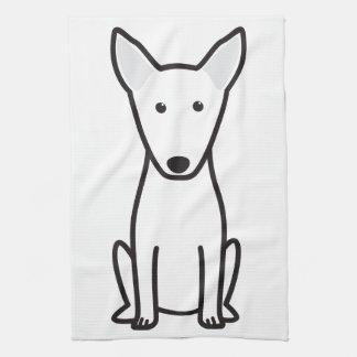 Bull Terrier Dog Cartoon Hand Towels