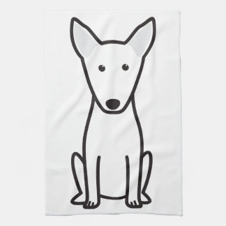 Bull Terrier Dog Cartoon Kitchen Towel