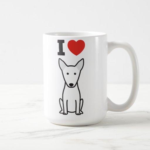 Bull Terrier Dog Cartoon Coffee Mugs