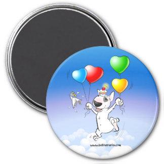 """Bull Terrier Fridge Magnet """"Happy Birthday"""""""