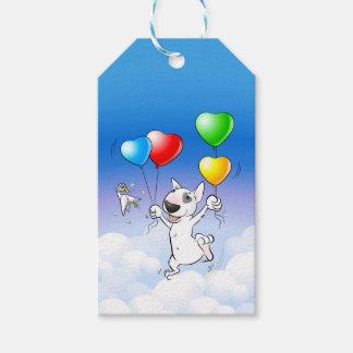 "Bull Terrier ""Happy Birthday"" Photo Gift Tag"