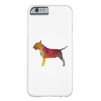 Bull terrier in watercolor barely there iPhone 6 case