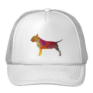 Bull terrier in watercolor trucker hat