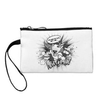 """Bull Terrier Keychain bag """"I'm Awesome"""""""