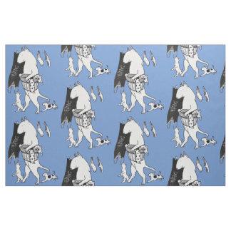 Bull Terrier Laundry Fabric Material