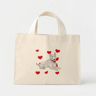 Bull Terrier Love Mini Tote Bag