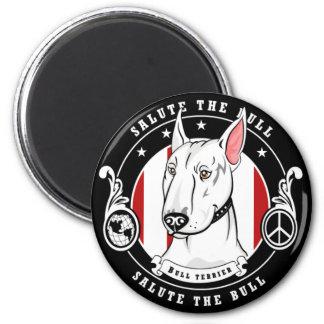 Bull Terrier Magnet Round