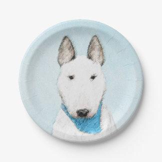 Bull Terrier Paper Plate