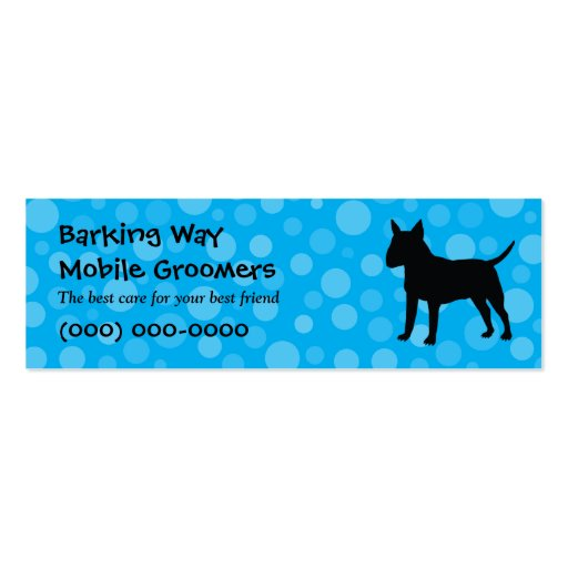Bull Terrier Pet Care Blue Business Card Template