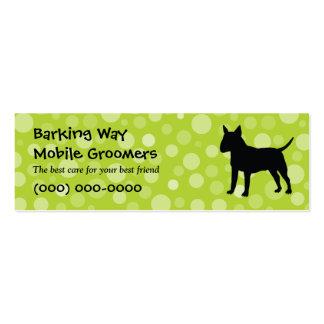Bull Terrier Pet Care Lime Mini Business Card