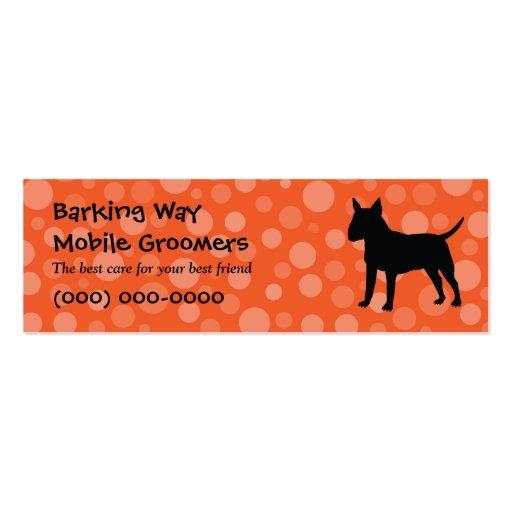 Bull Terrier Pet Care Orange Business Card Template