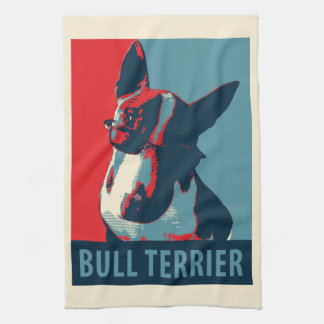 Bull Terrier Political Parody Hand Towels