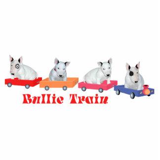 Bull Terrier Puppy Train Standing Photo Sculpture