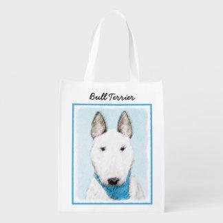 Bull Terrier Reusable Grocery Bag