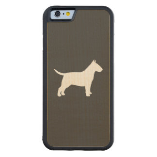 Bull Terrier Silhouette Carved Maple iPhone 6 Bumper Case