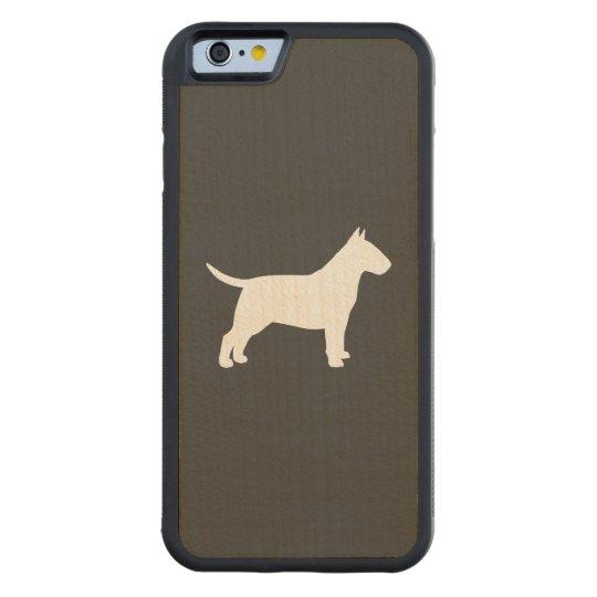 Bull Terrier Silhouette Maple iPhone 6 Bumper Case