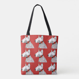 Bull Terrier Tote Bag (You can Customize)