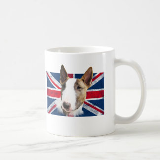 Bull terrier UK grunge flag //CUP of CUP