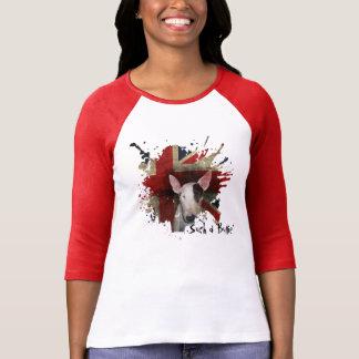 Bull Terrier Union Jack 3/4 sleeve t-shirt