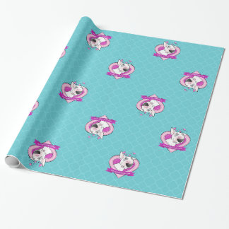 "Bull Terrier Wrapping Paper ""Love"""