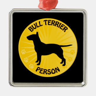 Bull Terrier Xing Metal Ornament