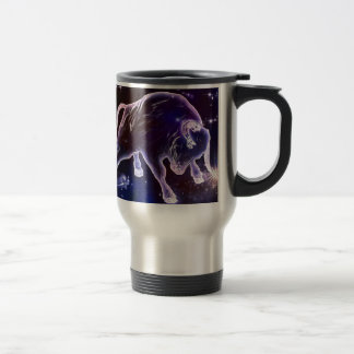 Bull times differently travel mug