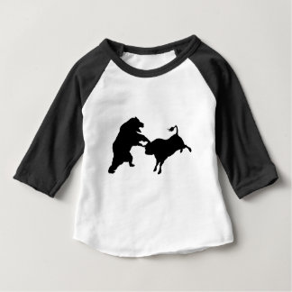 Bull Versus Bear Silhouette Concept Baby T-Shirt
