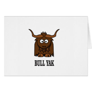 bull yak card