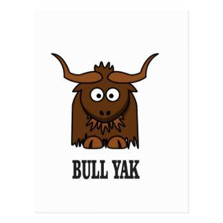 bull yak postcard