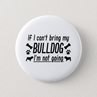 Bulldog 2 Inch Round Button