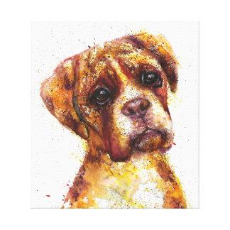 Bulldog abstract Fantasy art Canvas Print