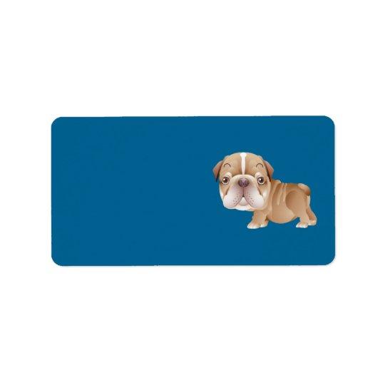Bulldog Address Label
