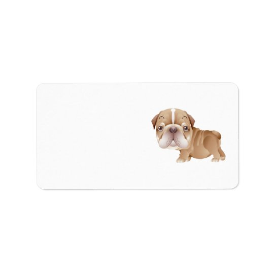 Bulldog Address Label