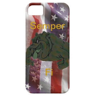 Bulldog American Flag I Phone 5 Case
