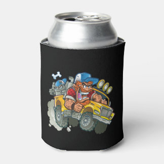 Bulldog and Redneck Monster Truck Can Cooler