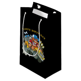 Bulldog and Redneck Monster Truck Small Gift Bag
