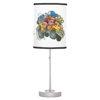 Bulldog and Redneck Monster Truck Table Lamp