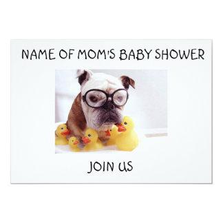 BULLDOG AND RUBBER DUCKIES BABY SHOWER INVITATION