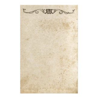Bulldog Antique Dog Parchment Retro Stained Stationery Design