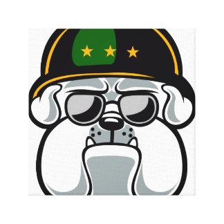 Bulldog Army Mascot Canvas Print