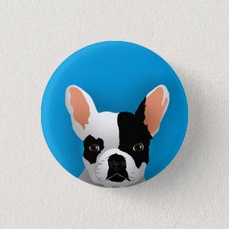 Bulldog art - french bulldog 1 inch round button