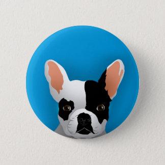 Bulldog art - french bulldog 2 inch round button