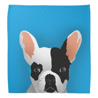 Bulldog art - french bulldog bandana