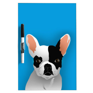 Bulldog art - french bulldog dry erase board